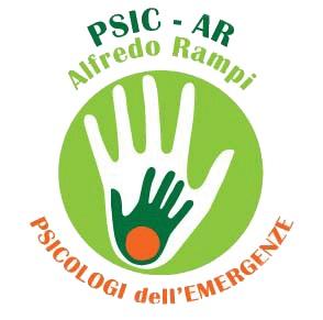 Logo dell'Associazione Psicar, 2 mani una dentro l'altra su sfondo verde