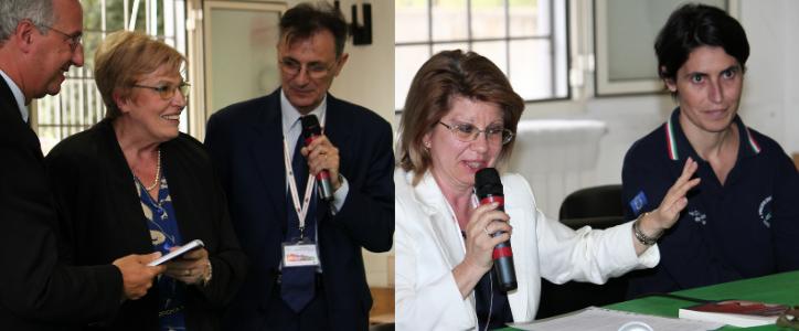 A destra Walter Veltroni, Fianca Rampi e Daniele Iorio, a destra Rita Iorio e Titti Postiglione