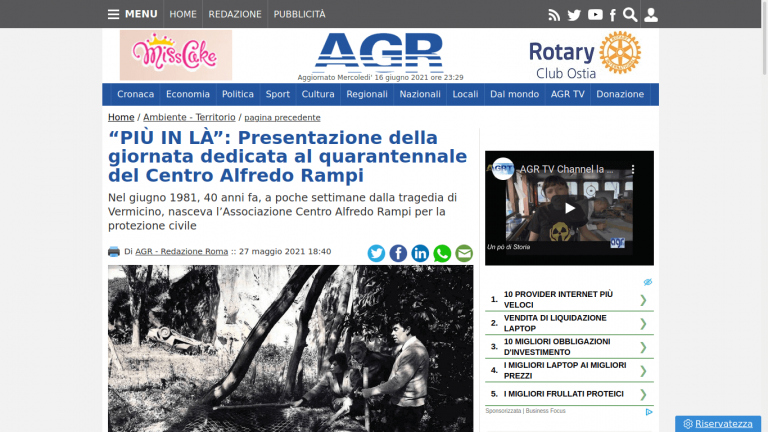 """""""PIÙ IN LÀ"""": Presentazione della giornata dedicata al quarantennale del Centro Alfredo Rampi"""