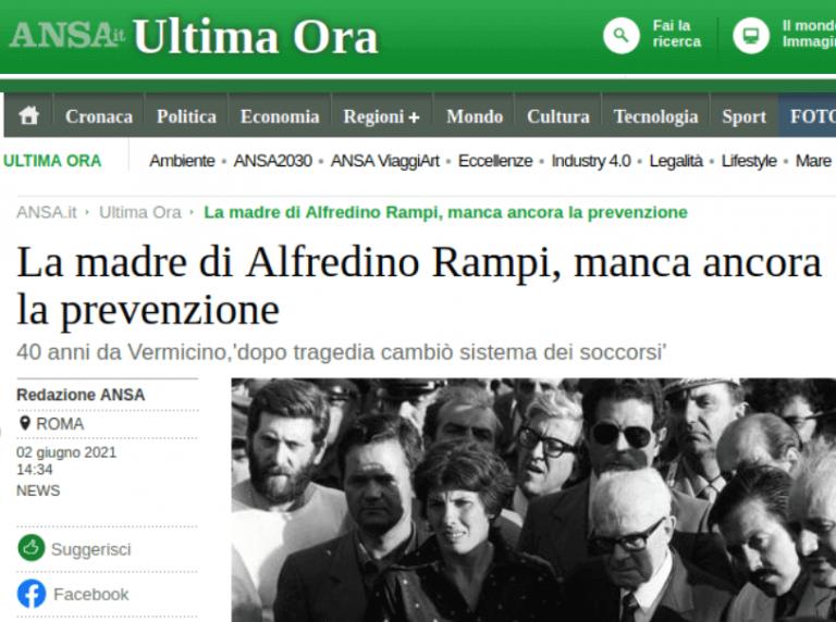 La madre di Alfredino Rampi: manca ancora la prevenzione