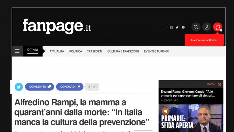 """Alfredino Rampi, la mamma a quarant'anni dalla morte: """"In Italia manca la cultura della prevenzione"""""""