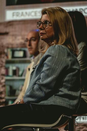 Rita Di Iorio conferenza stampa Alfredino