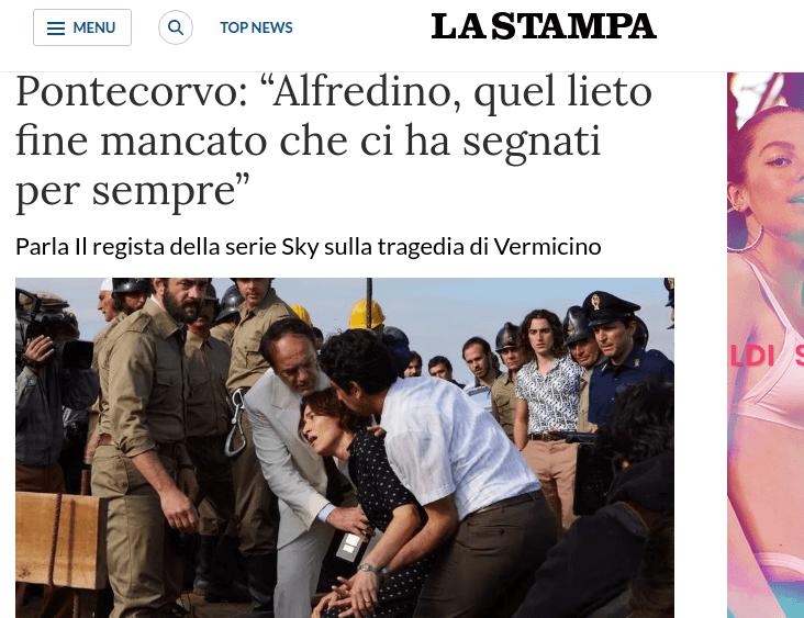 """La Stampa """"Alfredino, quel lieto fine mancato che ci ha segnati per sempre"""""""
