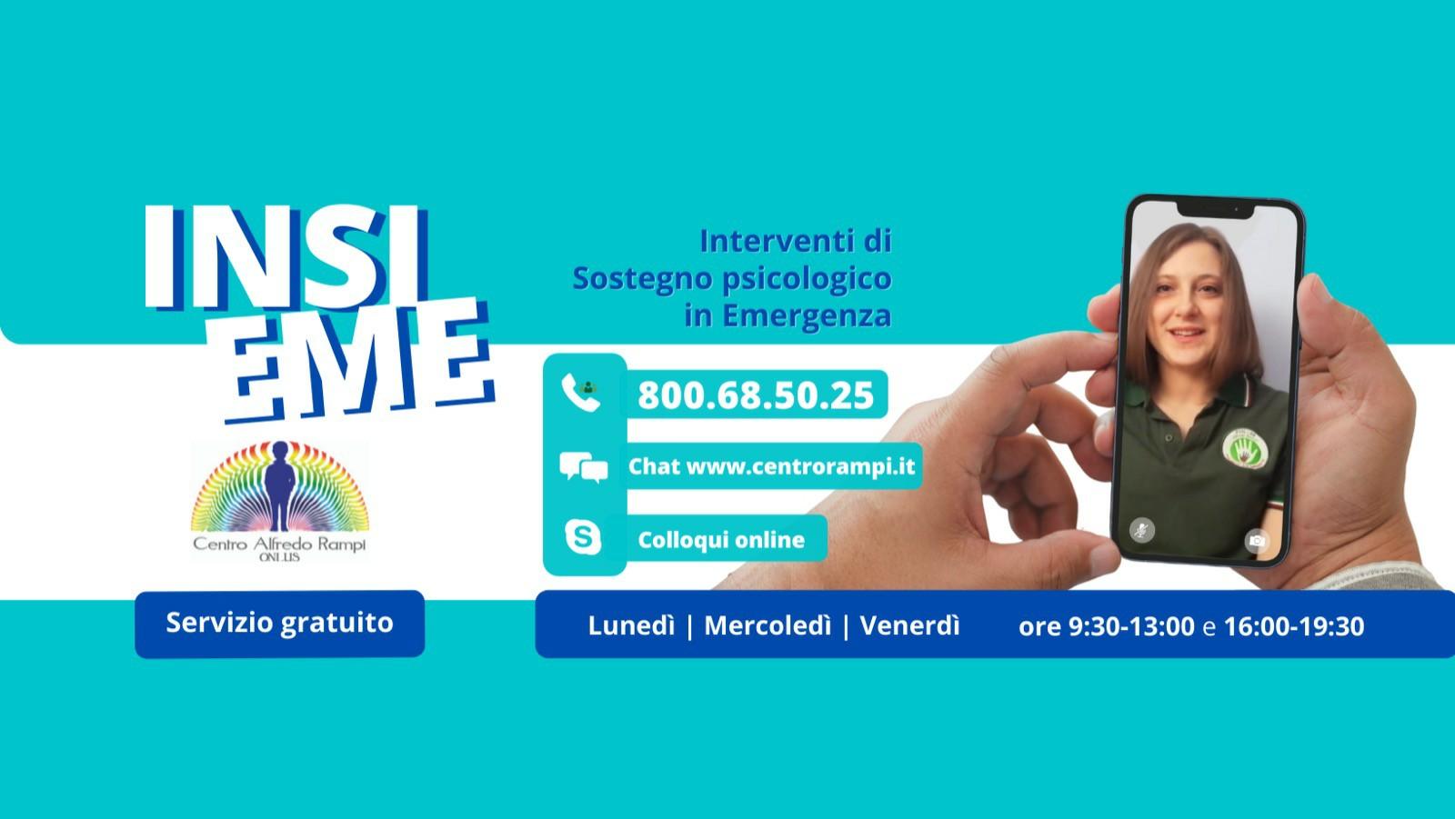 Insieme: servizio di supporto psicologico gratuito