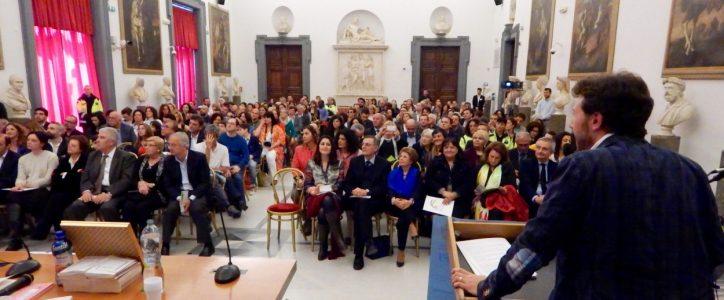 Premio Alfredo Rampi: la sala della premiazione vista dal palco